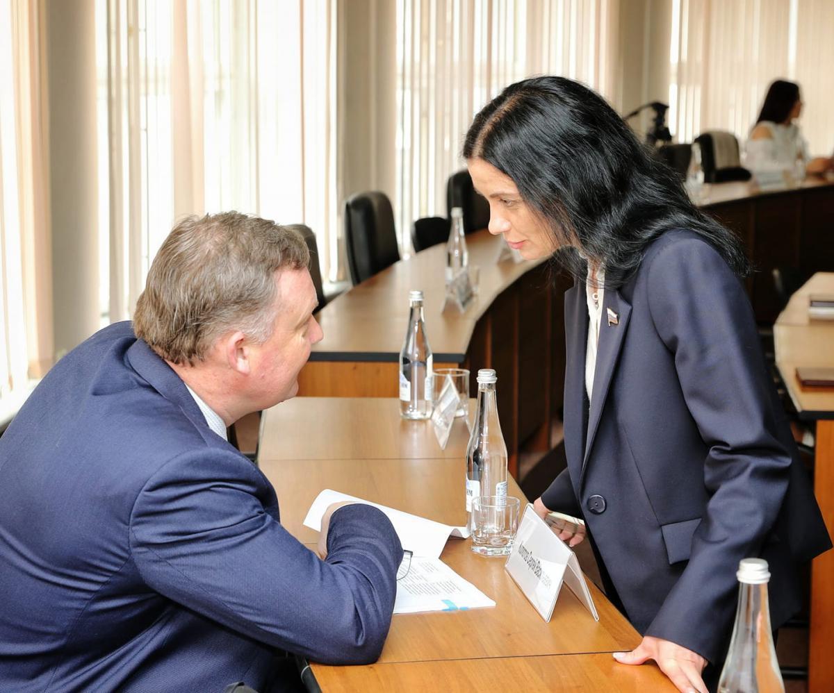 Татьяна Гриневич возмутилась отчетом и тут же его одобрила. Фото НРО «Справедливой России»